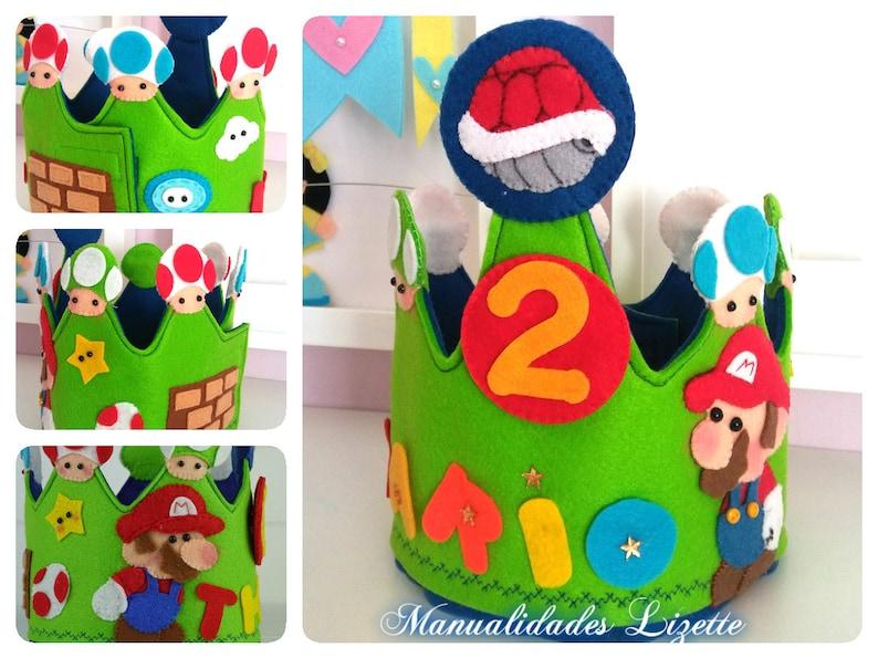Super Mario Bros Crown Mario Bros Birthday Kids Party Etsy