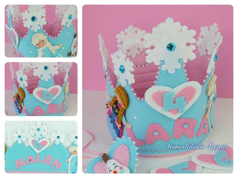 bca94fdcb531 Corona Frozen-Cumpleaños-Corona Niñas-Ana-Elsa-Decoración