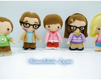 Big Bang Theory-SerieTV-Leonard-Sheldon Rajesh-Howard-Penny-Amy-Bernadette-collection-gift-Birthday