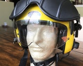 Rare beautiful complete ALPHA GENTEX 800 Helmet Sar Search and Rescue Flight Pilot Diver Winchman HELICOPTER with throat microphone