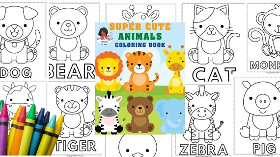 Animals Coloring Book Printable colouring book for Kids and