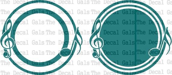 Music Circle Monogram Frame Digital Download Png Svg Vector Etsy