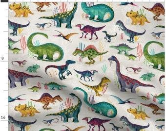 SINGLE SIDED Fun Dinosaurs Anti-Pill Fleece Throw Blanket David TextilesFree shipping availablefleece blanket
