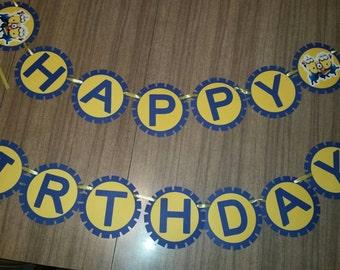 Minion Birthday Banner