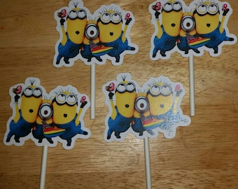 Party Minion Cupcake Toppers