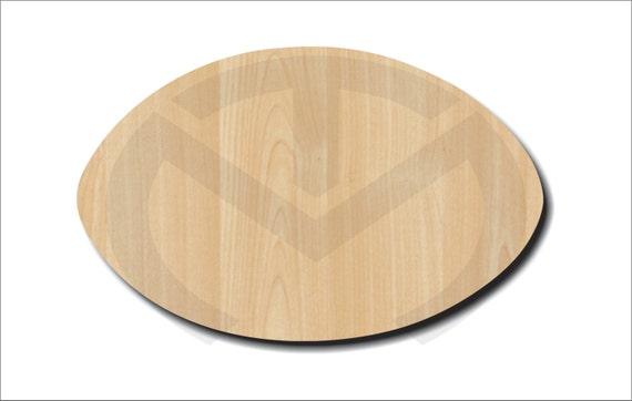 Football Shape 01559 Unfinished Wood Laser Cutout Door | Etsy