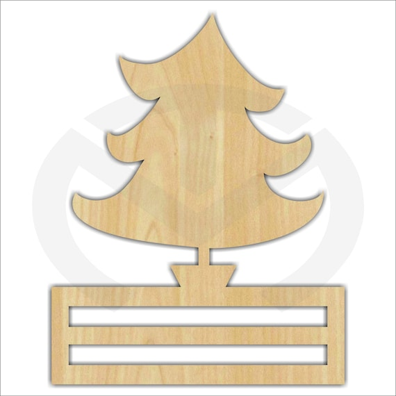 Various Sizes Wreath Accent Door Hanger Ready to Paint /& Personalize Unfinished Wood Santa Hat Laser Cutout