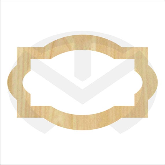 Unfinished Wood Laser Cut Decorative Frame/Plaque Combo Style | Etsy