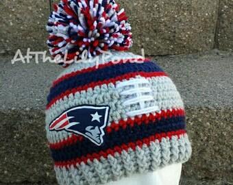 New England Patriots, New England Patriots Baby, New England Patriots Kids, New England Patriots Hat, Patriots Baby, Crochet Winter Hat