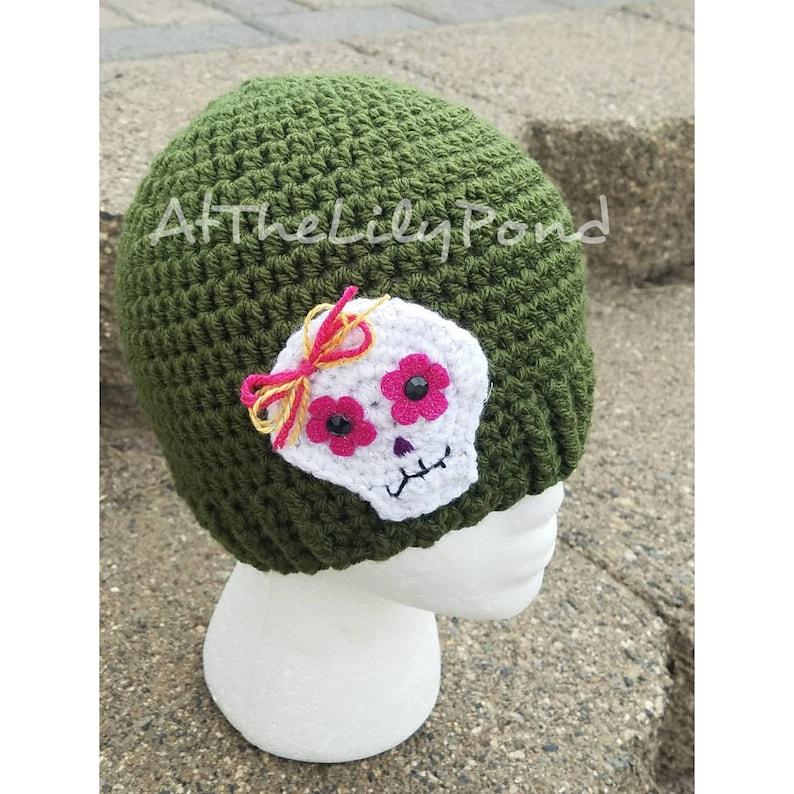 30c426035d2 Sugar Skull hat sugar skull beanie sugar skull accessories