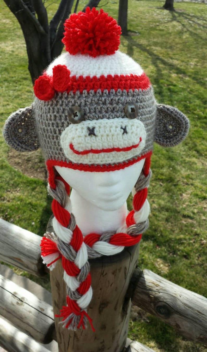 3e5e06f346298 Sock Monkey Sock Monkey Hat Sock Monkey Beanie Girl s