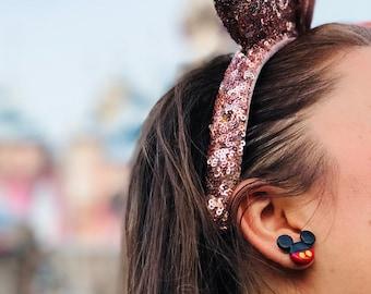 Mickey & Minnie Polymer Clay Earrings