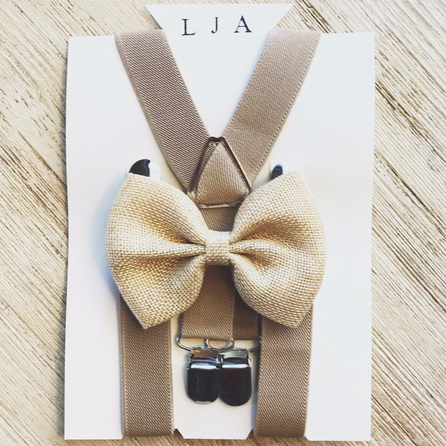 Burlap bow ties/suspenders for boys Rustic Wedding Bow tie and ...