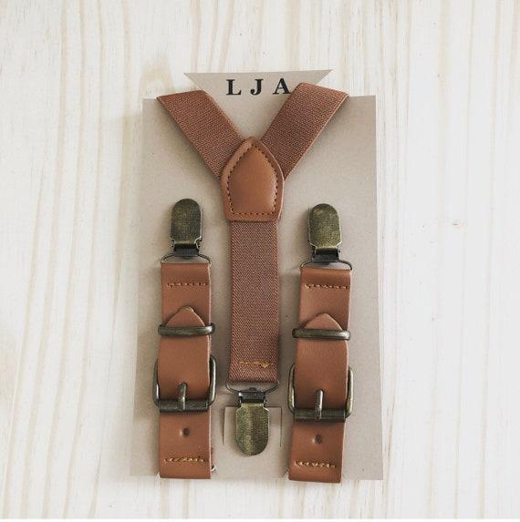 Groomsmen Brown Leather Suspenders Men Wedding Ring Bearer Outfit Rustic Wedding Men S Suspenders Boys Suspenders Brown Suspenders