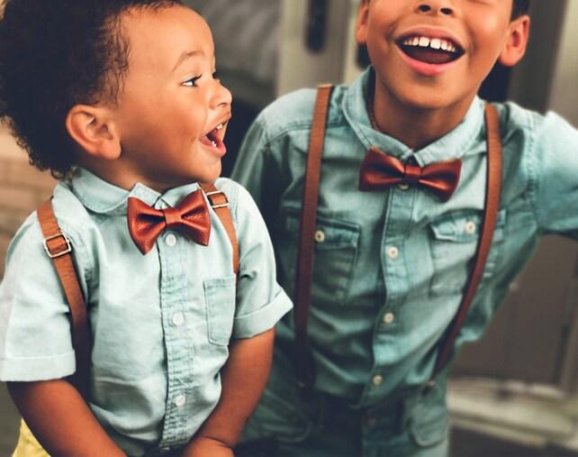 Rustic Wedding Suspenders Ring Bearer Outfit Baby Leather Suspenders