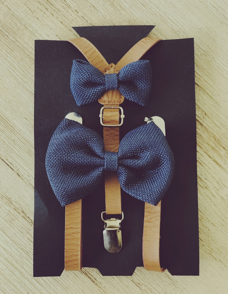 Rose gold bow tie Gold Rose Bow Tie /& Leather Suspenders--Perfect for Ring Bearer Outfit 1st Birthday Outfit Gold Boys Wedding Outfit