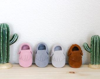 Leather Newborn Moccasins Newborn Baby Moccasins Fringe Leather Baby Moccasins Baby Moccs Baby Shoes Baby Shower