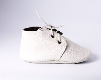 White Leather Toddler Shoes Baby Oxfords Baby Oxford Shoes White Baptism Baby Moccasins Leather Toddler Moccasins Baby Leather Moccasins Bab
