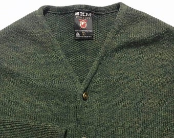 Vintage 1960s Seattle Knitting Mills Cardigan ~ L ~ 100% Wool ~ SKM Penguin  Sweater ~ Preppy   Ivy League   Trad   Mod ~ 779c3379a