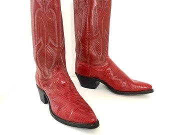 737c9d4f285 Lizard skin boots | Etsy