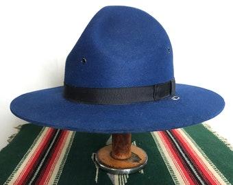 7fefb9a2141 Vintage STRATTON Montana Peak Campaign Hat ~ size 7 1 8 to 7 1 4 ~ Uniform  ~ Cowboy Hat ~ 3