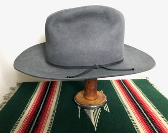 ac13bc38109 Vintage WESTERNER Cowboy Hat ~ size 7 1 8 ~ Western Fedora ~ Fur Felt ~ 3