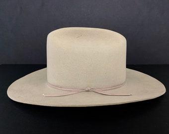 a7a58aac Vintage STETSON Cowboy Hat ~ size 7 1/8 ~ 3X Beaver Fur Felt ~ Wide Brim  Fedora ~ Open Road / Rancher ~ Raw Edge ~