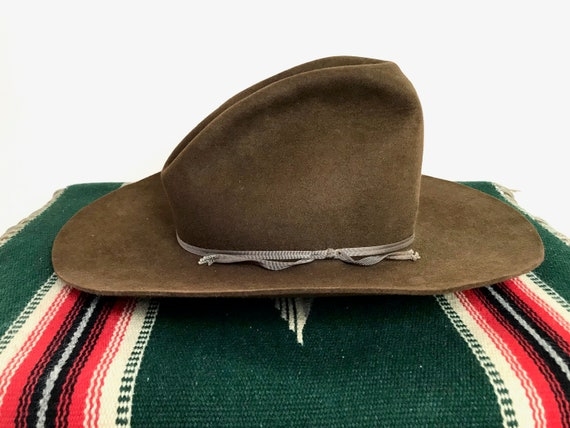 Vintage RESISTOL Western Hat size 7 1 8 to 7 1 4 Cowboy  15112ac86a7