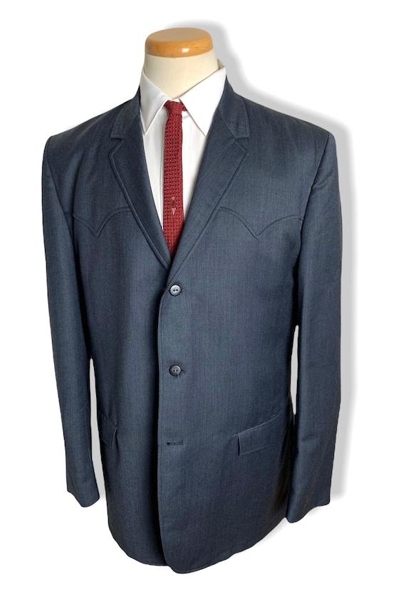 Vintage 1960s LASSO Western Wear SHARKSKIN Blazer