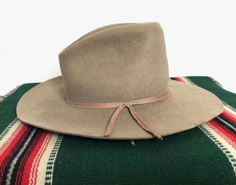342c88ea Vintage 1960s THOROUGHBRED Western Hat size 7 1/8 Cowboy | Etsy