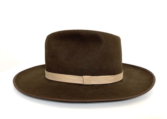 Vintage 1960s 101 RANCH Western Fedora ~ 7 to 7 1/