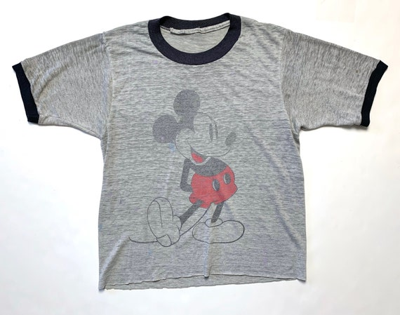Vintage 1970s/1980s MICKEY MOUSE Ringer T-Shirt ~