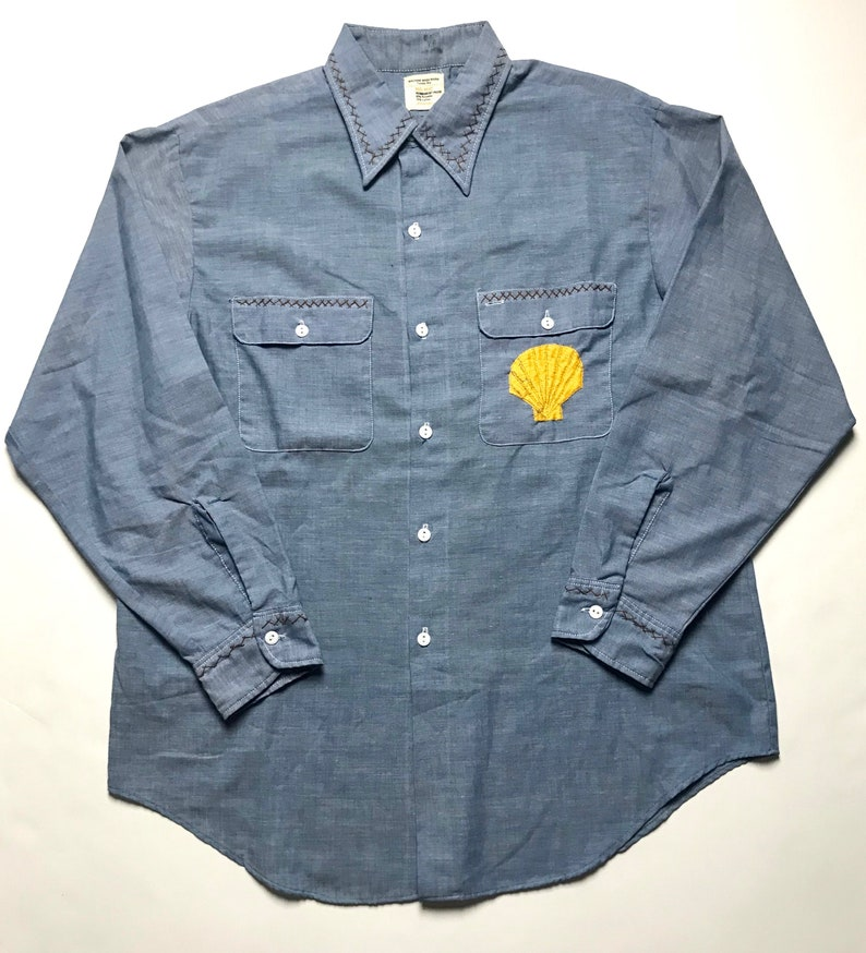 7846d7ee3e22 Vintage BIG MAC   JCPenney Chambray Work Shirt L Selvedge
