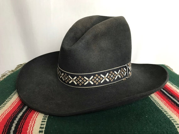 Vintage STETSON Cowboy Hat 7 1 4 Western Fedora 3  0bd89a3d9703