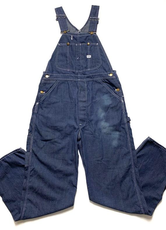 Vintage 1970s LEE Denim Overalls ~ size S to M ~ W
