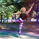 Dot Matrix--Colorful plus size workout leggings!
