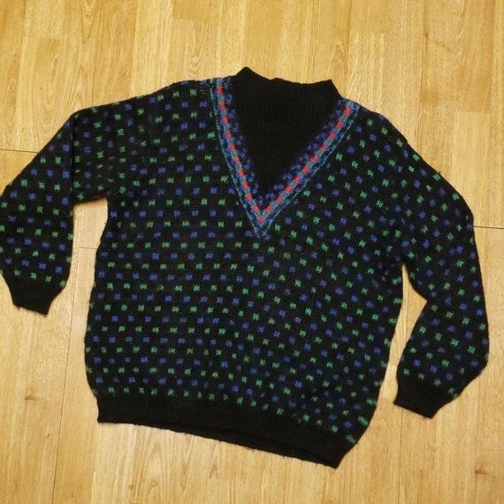 Vintage Benetton mock neck sweater