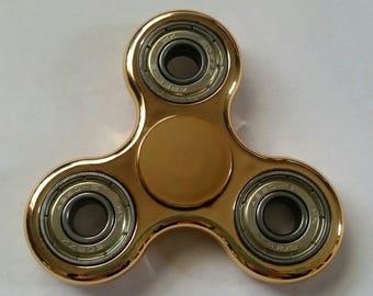 Gorgeous Golden Fidget Spinner/Stress=ADHD=Anti Anxiety-Focus Toy