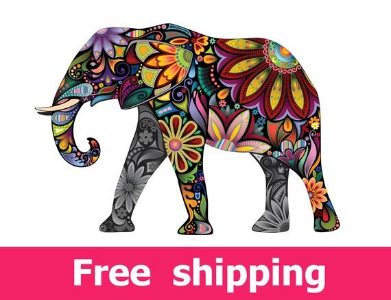 Elephant wall decal nursery wall sticker elephant wall art | Etsy