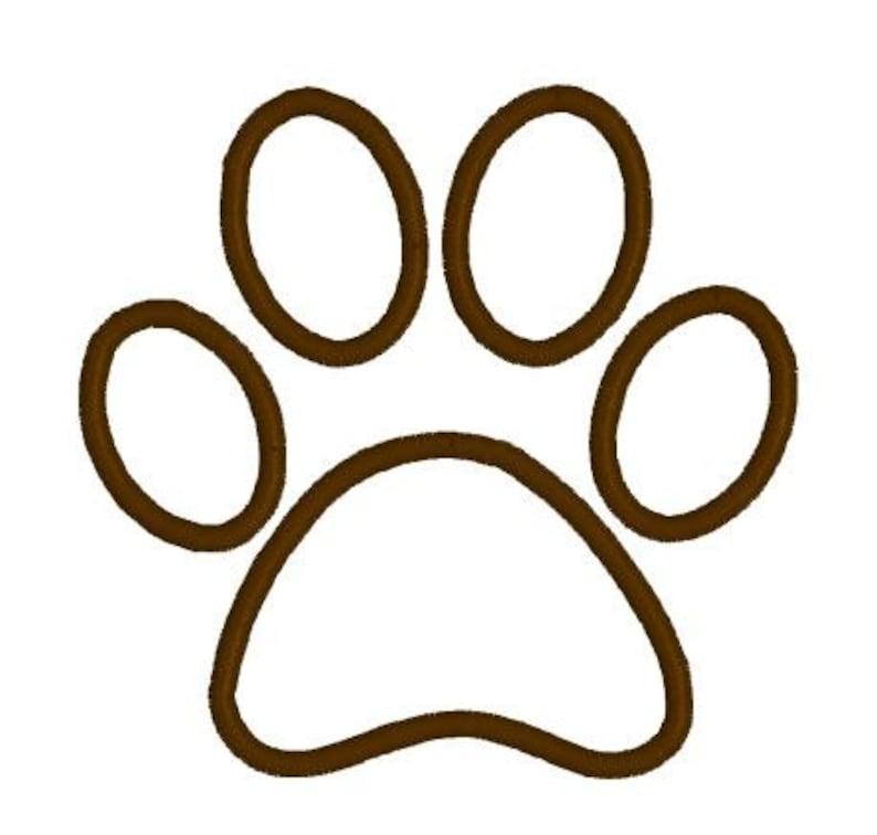 Applique Embroidery Design Pattern Applique Dog Paw Print Outline File  Instant Download