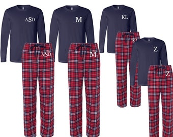 Monogrammed Family Matching Flannel Christma Pajamas c0842bb66
