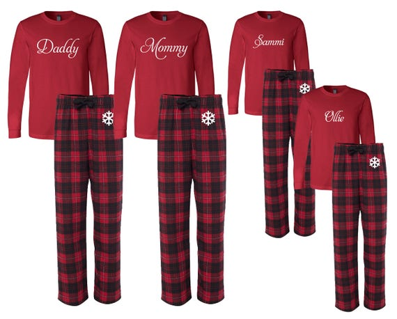 75cd4bf365 Personalized Family Matching Flannel Christma Pajamas Custom
