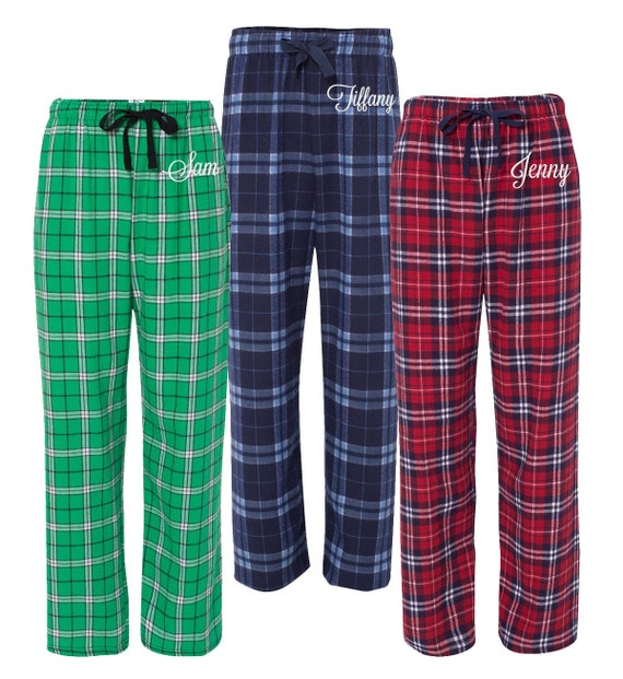 Christmas Pjs.Personalized Christmas Pajamas Flannel Pjs Monogrammed Flannel Pajama Pant Monogrammed Pajamas Custom Monogram Pajamas Holiday Pjs