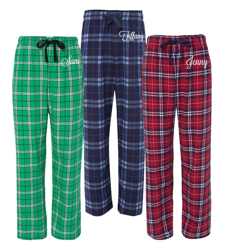 9ada526aef Personalized Christmas Pajamas Flannel Pjs Monogrammed