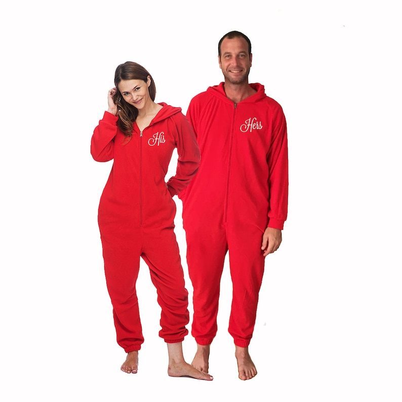 e4183feb9bf5 His and Hers Valentine s Day Onesies for adults set of 2