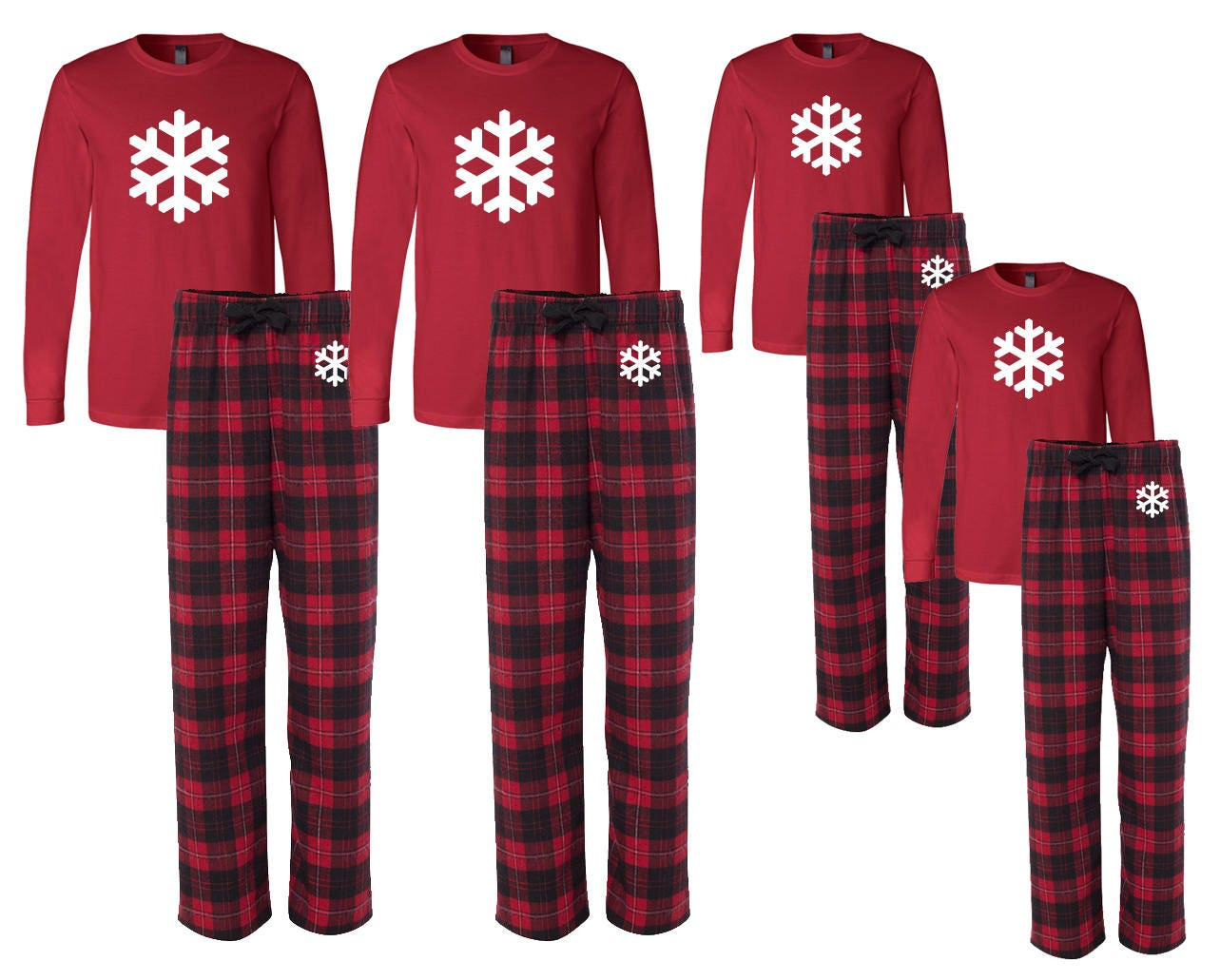 Matching Flannel Snowflake Family Christmas Pajamas Family  5c600d469