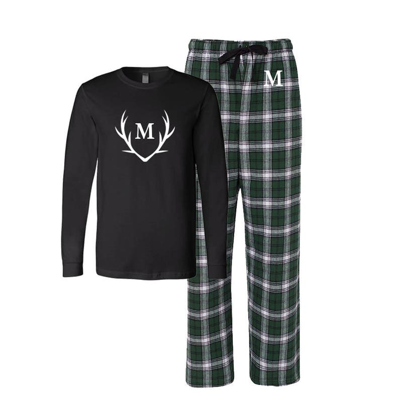 8a84000422 Antler Christmas pajamas Deer Horn Christmas Pjs Family