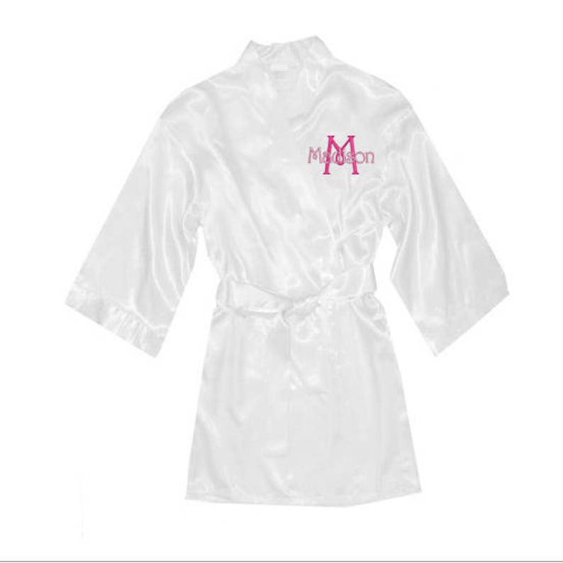 Monogrammed Kids Satin Robe Personalized Childrens Satin  33127b8ed