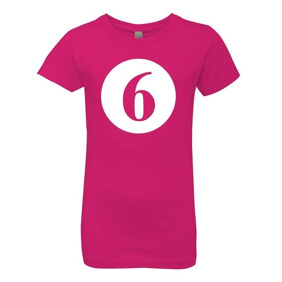 Birthday Number 6 Kids Tee Shirt
