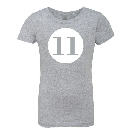 Birthday Number 11 Kids Tee Shirt